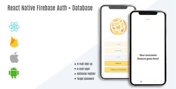 React Native Firebase Auth Database