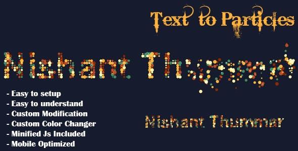 Text to Particles Dissolve Effect JS