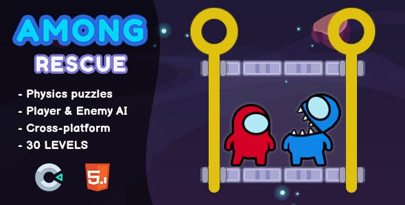 Among Rescue - HTML5 Game | Construct 3
