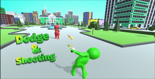 Dodge  & Shooting -  Complete Unity Game
