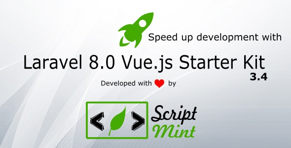 Laravel 8.x Vue.js SPA Bootstrap Admin Starter Kit - CodeCanyon Item for Sale