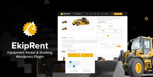 Ekiprent - Equipment Rental & Booking WordPress Plugin