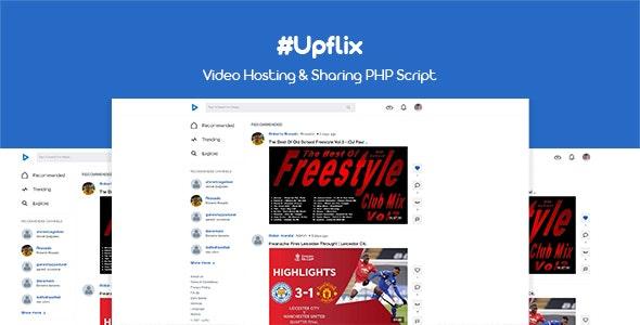 Upflix v1.0.3 – Video Hosting & Sharing PHP Script