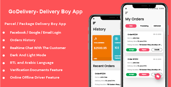 GoDelivery - Delivery Software for Managing Your Local Deliveries - DeliveryBoy App - CodeCanyon Item for Sale
