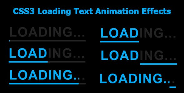 CSS3 Loading Text Animation Effects