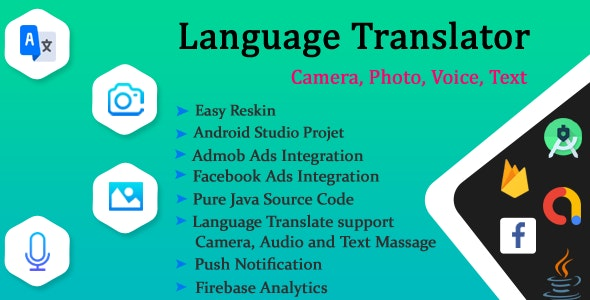 Language Translator Free, Camera, Voice, From Photos, Text Translate All - CodeCanyon Item for Sale