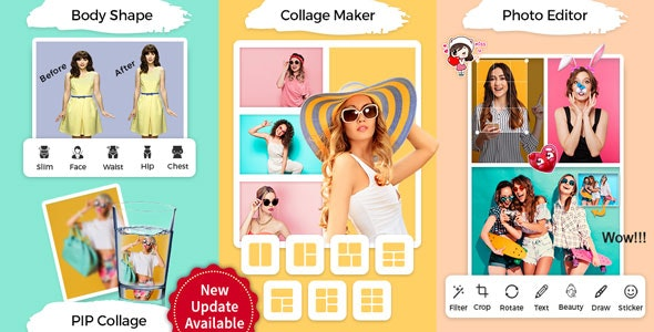 PIP & Photo Collage Maker With Photo Editor, ScrapBook & Body Shape Editor(FB & Admob Ads) - CodeCanyon Item for Sale