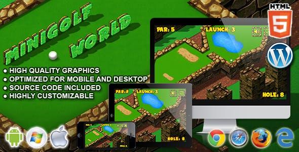 Mini Golf World - HTML5 Sport Game