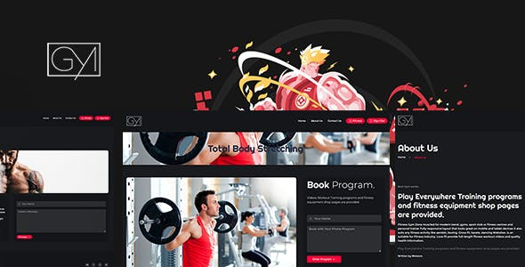 Fitness - Video Training and Gym Script Theme
