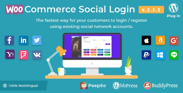 Social Login - WordPress / WooCommerce Plugin - CodeCanyon Item for Sale