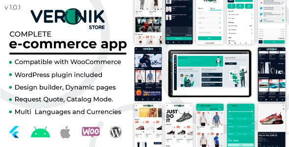 Veronik Store -  Flutter 2x - WooCommerce Android & Ios  e-commerce