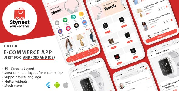 Stynext - Flutter Ecommerce App UI KIT Template (Android and IOS)