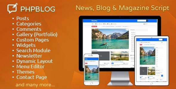 phpBlog - News, Blog & Magazine Script - CodeCanyon Item for Sale