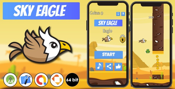 Sky Eagle - Android Studio & Xcode & Buildbox Template - CodeCanyon Item for Sale