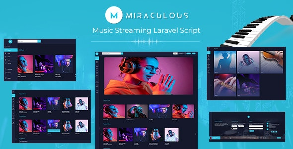 miraculous - Music Streaming Laravel Script - CodeCanyon Item for Sale