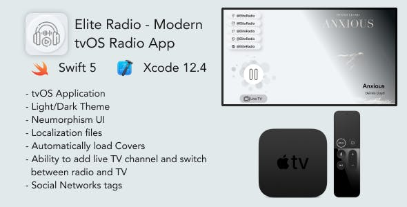 Elite Radio - Modern tvOS Radio App