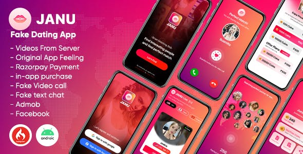 Janu - Dating App with Live Streaming : One to One Video Call (Videos from server)