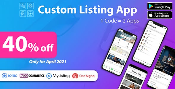 Custom Listing App - Android and iOS Ionic 5 directory mobile app compatible with MyListing Theme
