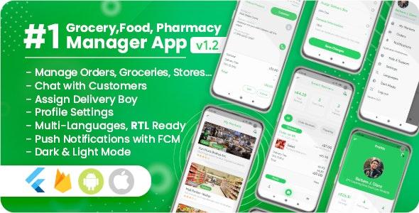 Owner / Vendor for Groceries, Foods, Pharmacies, Stores Flutter App - CodeCanyon Item for Sale