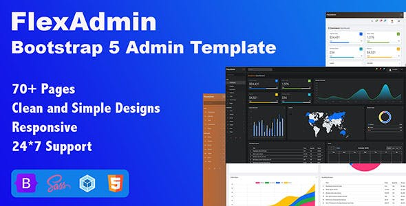 FlexAdmin -  Bootstrap 5 Admin Template