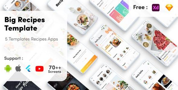 Flutter Recipes - Recipe UI KIT template flutter recipe app