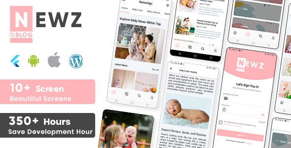 Newz - Flutter 2.0 News & Blog App For Wordpress