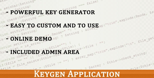PHP Keygen Application - CodeCanyon Item for Sale