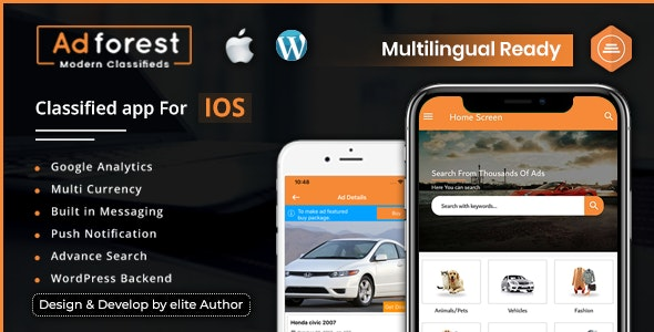 AdForest - Classified Native IOS App - CodeCanyon Item for Sale