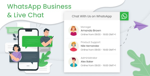 WhatsApp Business & Live Chat - CodeCanyon Item for Sale