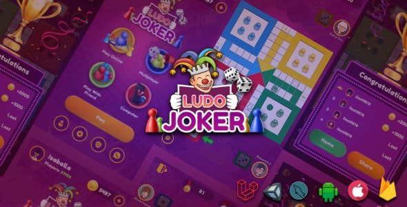 Ludo Joker With Online Multiplayers Real Money Game(Android + IOS) - CodeCanyon Item for Sale
