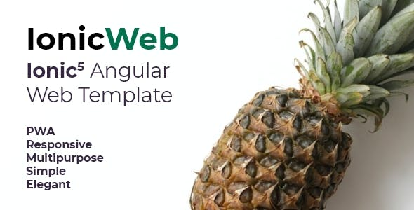 Ionic Web Template