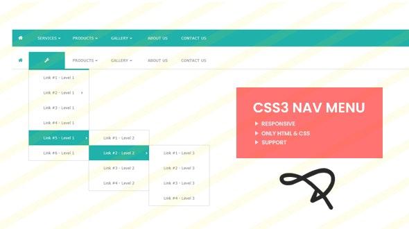 Responsive Animated CSS3 Nav Menu - CodeCanyon Item for Sale