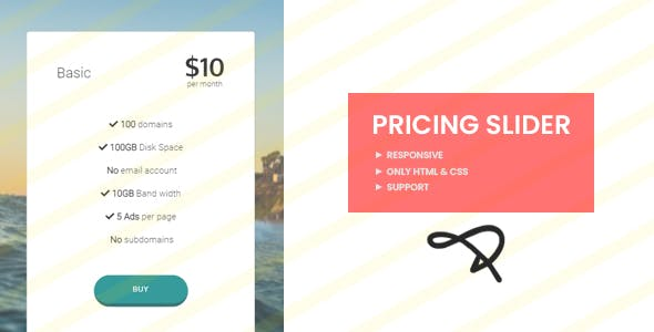 Pricing Slider