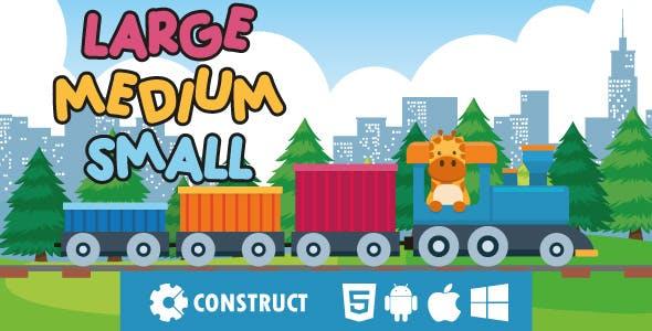 Large Medium Small - HTML5 Educational Game