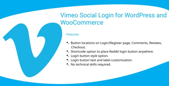 Vimeo Social Login  Plugin for WordPress and WooCommerce