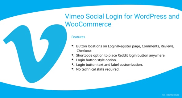 Vimeo Social Login  Plugin for WordPress and WooCommerce - CodeCanyon Item for Sale