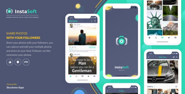 InstaSoft  Photos application for followers
