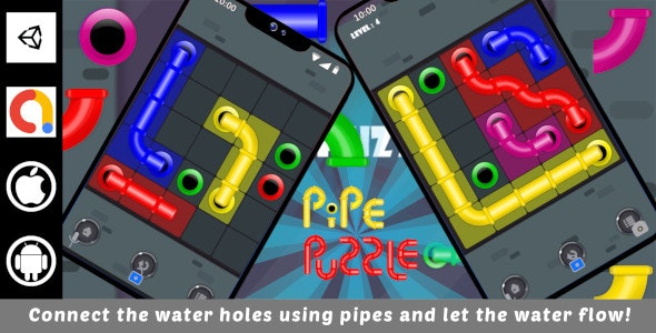 Pipe Puzzle Unity Challenging Game For Android and iOS with Admob - CodeCanyon Item for Sale