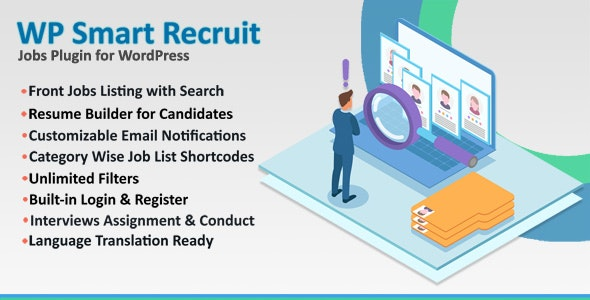 WP Smart Recruit - Jobs Plugin for WordPress - CodeCanyon Item for Sale