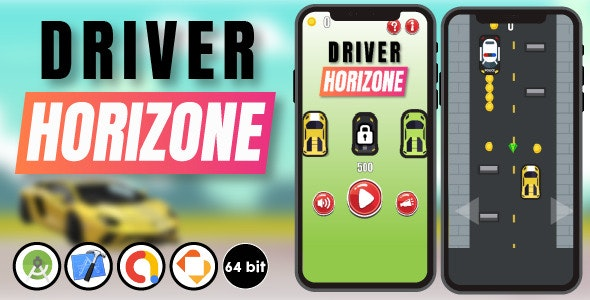 Driver Horizone - Android Studio & Xcode & Buildbox Template - CodeCanyon Item for Sale