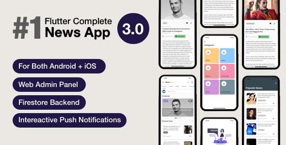 News Hour v3.0.4 – Flutter News App with Admin Panel