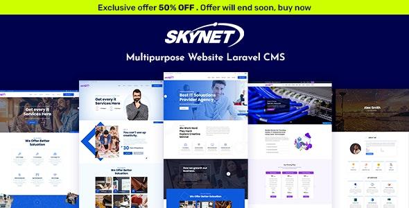 Skynet – Multipurpose Laravel CMS - CodeCanyon Item for Sale