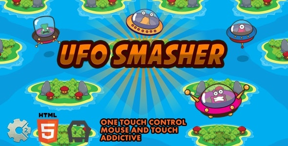 UFO Smasher - Construct 2 Html5 Game - CodeCanyon Item for Sale