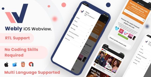 Webly IOS Webview - Convert your website into native ios app - CodeCanyon Item for Sale