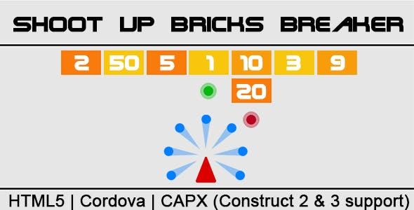 Shoot Up Bricks Breaker (CAPX | HTML5 | Cordova) Endless Game