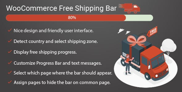 Free shipping bar for WooCommerce