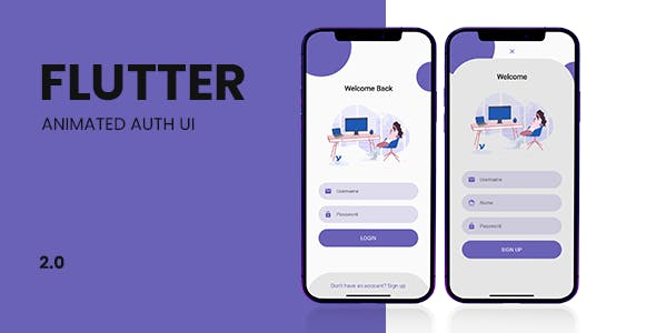 Flutter Login UI - Animated