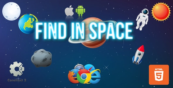 Find In Space - HTML5/Mobile Game - (.Capx) - CodeCanyon Item for Sale