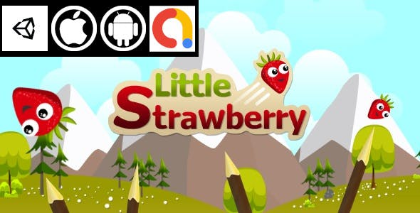 Little Strawberry Unity Funny Endless Game With Admob For Android And iOS