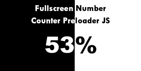 Fullscreen Number Counter Preloader JS - CodeCanyon Item for Sale